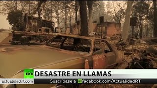 Ya son 42 fallecidos y 229 desaparecidos por los incendios en California