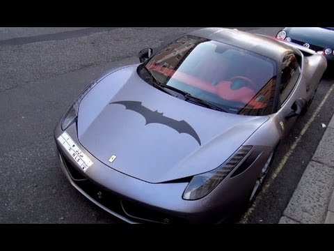 Batman Ferrari 458 Italia In London Youtube