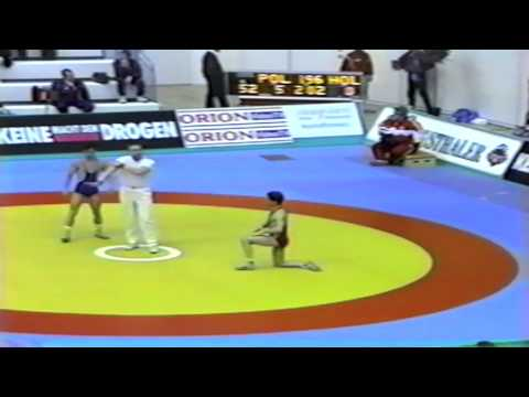 1991 Senior European Greco Championships: 52 kg Dariusz Piaskowski (POL) vs. Marchel Verweij (HOL)