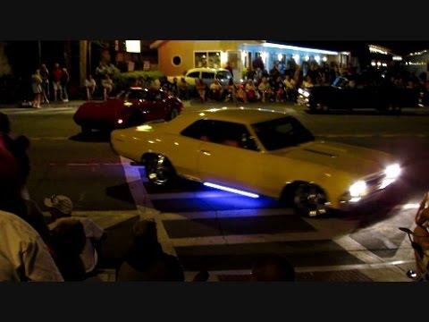 Adirondack Nationals Car Show In Lake George NY Friday Night - Cruise car show