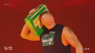 Brock Lesnar And His BoomBox - Old Town Road Entrance WWE Raw 5-20-2019