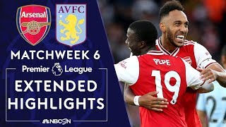 Arsenal v. Aston Villa | PREMIER LEAGUE HIGHLIGHTS | 9/22/19 | NBC Sports