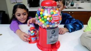 Funny Kids Takes Gumball Machine! Family Fun Kids Video