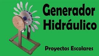 Repeat youtube video Proyectos - Generador Hidráulico De Energía Eléctrica (muy fácil de hacer)