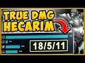 WTF! UNLOCK UNLIMITED TRUE DAMAGE WITH THIS HECARIM BUILD?? HECARIM TOP GAMEPLAY! League of Legends
