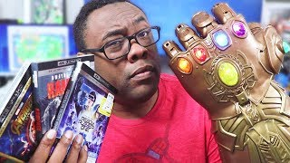 I'M THANOS NOW!! Avengers Infinity Gauntlet Unboxing & 4K DVD Haul