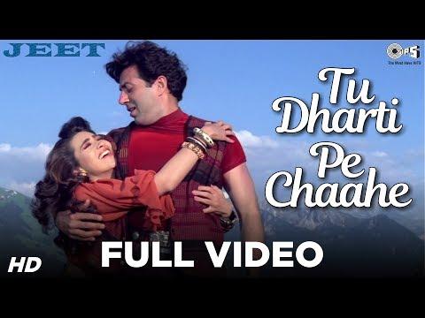 tu-dharti-pe-chaahe-full-video---jeet-|-sunny-deol,-karisma-kapoor