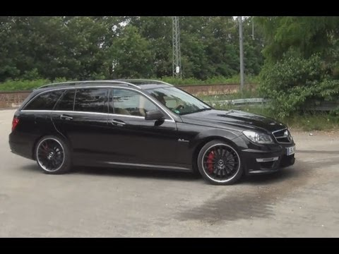 Sound Footage Mercedes C63 Amg 3 Minuten Geiler V8 Best Of Loud Flyby Acceleration Test Drive