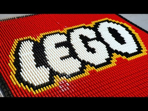 73,000 LEGO Bricks of Dominoes!
