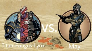 Shadow Fight 2 Titan-Fungus-Lynx Vs May