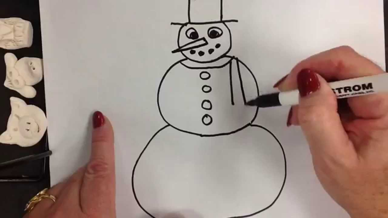 Kids Can Draw Easy Snowman For Ages 4 5 And 6 Youtube