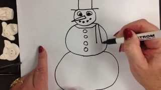 Kids Can Draw: Easy Snowman for Ages 4,5,and 6