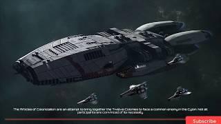 Battlestar Galactica Deadlock Gameplay (PC game).