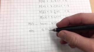 Polynomin nimeäminen ja arvon laskeminen