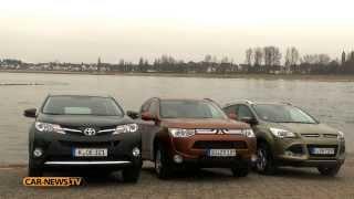 Hyundai Tucson v Mazda CX-5 v Ford Kuga v Mitsubishi Outlander comparison