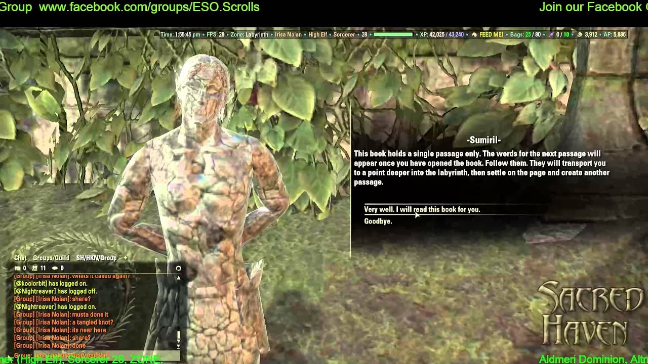 Elder Scrolls Online A Tangled Knot, Labyrinth Quest