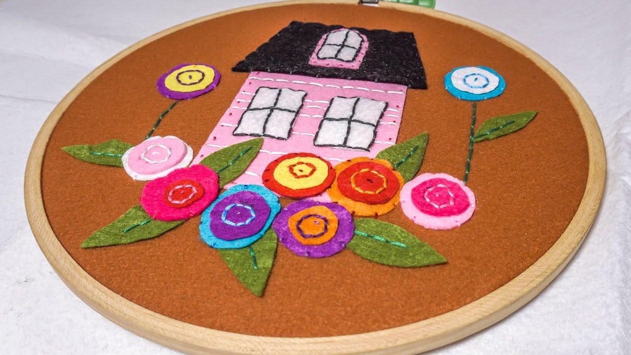 Diy wall hanging for kids room embroidery hoop art