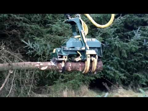 Stroke Harvesting Head processing Sitka Spruce in Scotland 2