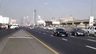 Dubai Grand Car Parade 2013 down Sheikh Zayed Road