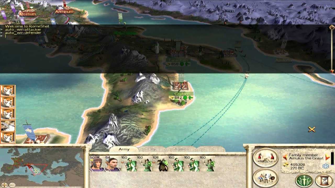 How to <b>Cheat</b> - <b>Rome</b>: <b>Total War</b> - Unlimited Money AND MORE - YouTube