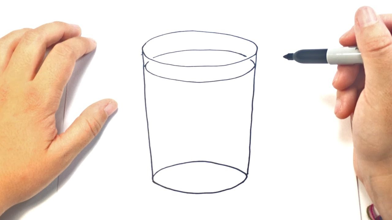 Como Dibujar Un Vaso Paso A Paso Dibujo Facil De Vaso Youtube