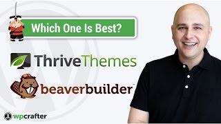Thrive Content Builder Vs Beaver Builder WordPress Page Builder Fight