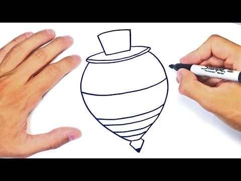 Como Dibujar Un Trompo O Peonza Paso A Paso Y Facil Youtube