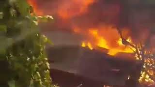 горят дома по улице Нижегородской 21.08.17 — Это Ростов-на-Дону!
