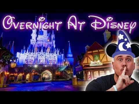 REAL OVERNIGHT CHALLENGE AT MAGIC KINGDOM! DISNEY WORLD - BEAUTY AND THE BEAST CASTLE