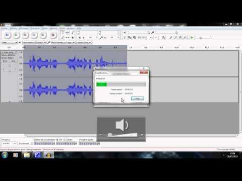 Comment augmenter ou diminuer le volume de audacity