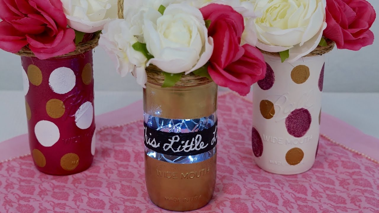 Mason Jar Centerpiece / DIY / How To Create This Little Light Mason Jar  Baby Shower Centerpiece!