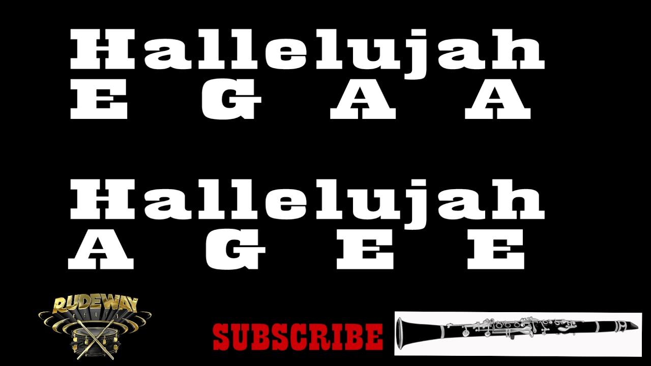 Hallelujah - Leonard Cohen (Clarinet Notes) {Rudeway ...