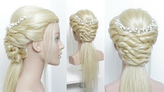 Half Up Half Down Updo For Prom. Hair Tutorial