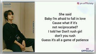 BANG YE DAM (TREASURE) - HONESTY (Pink Sweat$ Cover) Easy Lyrics