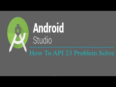 How To Solve Compile SDK  Version API 23 In Android Studio
