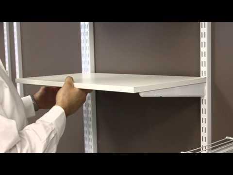 installing-wood-shelves- -freedomrail- -organizedliving.com