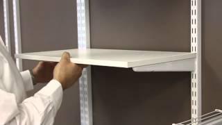 installing wood shelves   freedomrail   organizedliving com