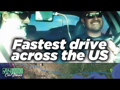 The fastest drive across the US - Atlantic to Pacific