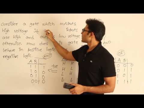 Positive and negative logic systems