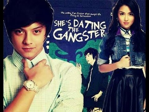 shes dating the gangster kathniel taping 'she's dating the gangster' author bianca bernardino and actress kathryn bernardo thank fans for supporting the movie.