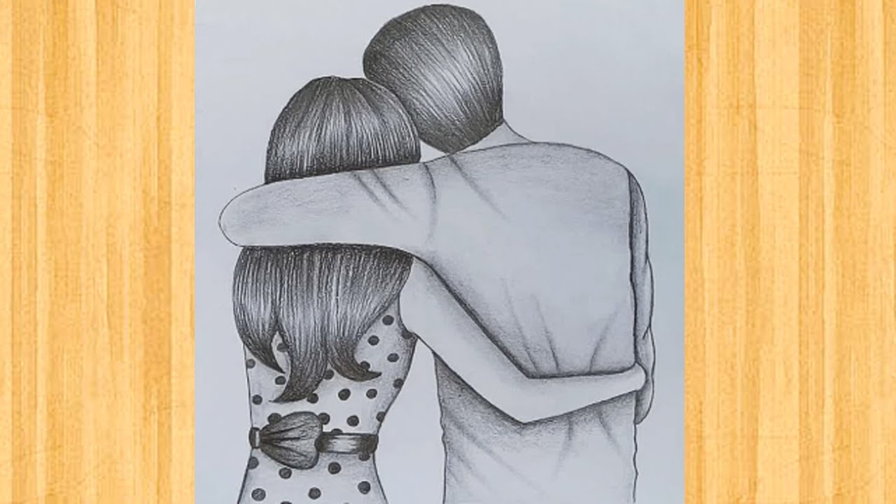 How To Draw A Romantic Couple For Beginners Awesome Ideas For Couple Drawing Youtube