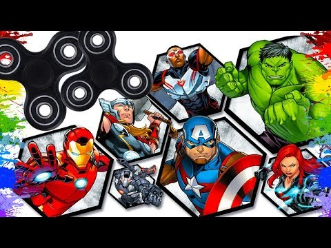 Colorindo Fidget Spinners Desenho Dos Super Herois Para Criancas