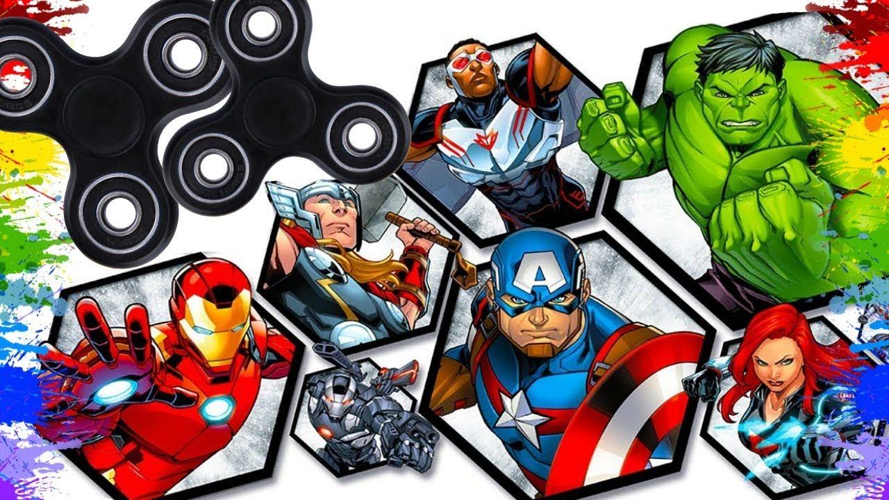 Colorindo Fidget Spinners Desenho Dos Super Heróis Para Crianças Marvel Super Heroi Para Colorir