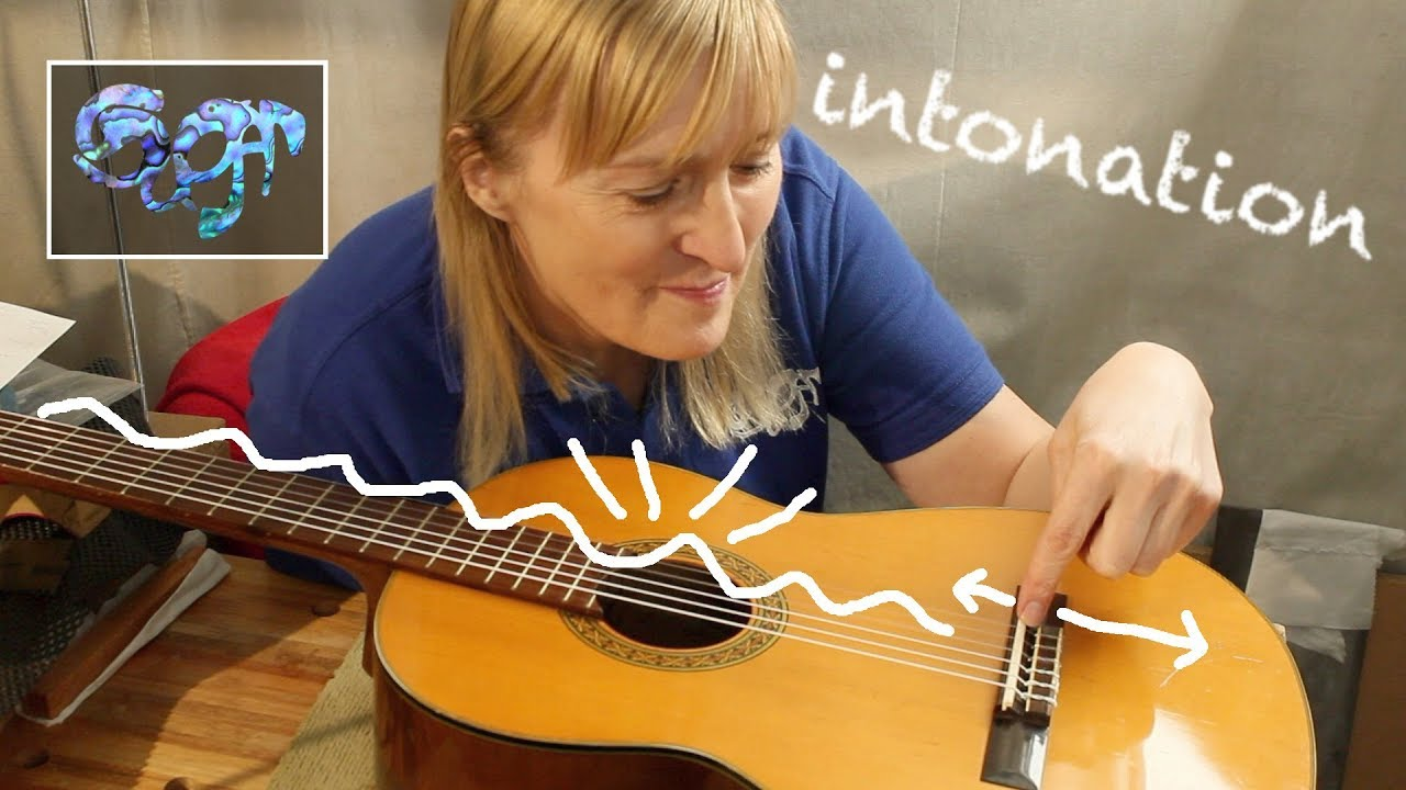 Fixing The Intonation On A Classical Spanish Guitar Youtube