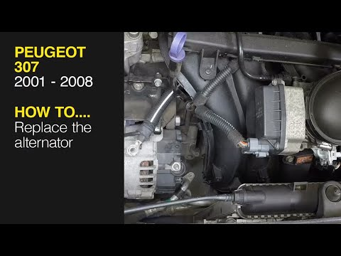 How to replace the alternator on a Peugeot 307 2001 – 2008 4147   Alternator