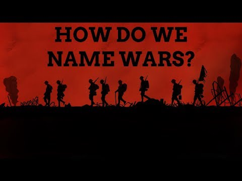 How Do We Name Wars?