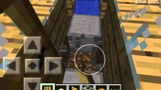 how to make a shower in minecraft pocket edition