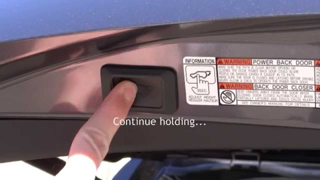 How to Program Height-Adjustable Power Liftgate 2014 Toyota RAV4 in Raleigh & How to Program Height-Adjustable Power Liftgate: 2014 Toyota RAV4 in ...