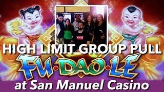 HIGH LIMIT GROUP PULL w/LIFE OF A GAMBLER @San Manuel Casino | NorCal Slot Guy