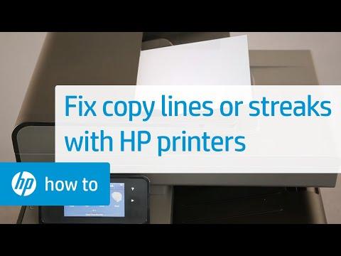 Lines or Streaks When Copying   HP